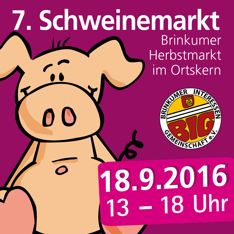 Mitfeiern beim Schweinemarkt!
