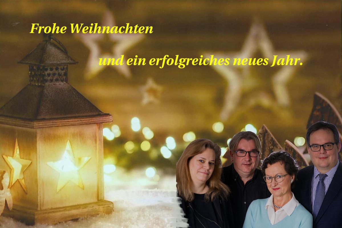 Frohe Weihnachtstage und guten Rutsch!